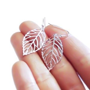 Moodtherapy Jewelry - 🍃 Small Filigree Leaf Earrings